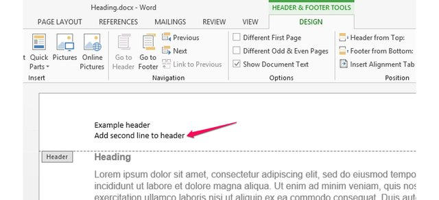 how to add heading on a picture in word