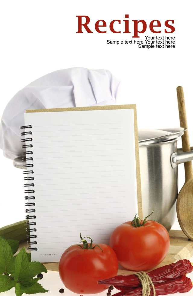 How to make a recipe book using microsoft word techwalla blank recipe book and vegetables forumfinder Images