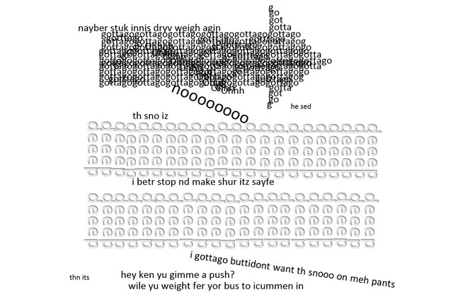 how to create concrete poems in word