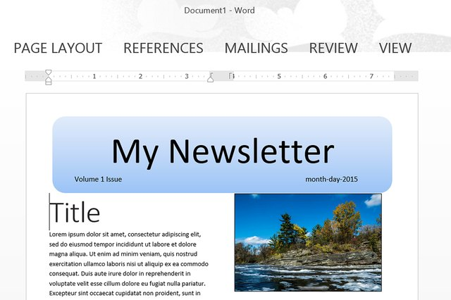how to make a newsletter template in word