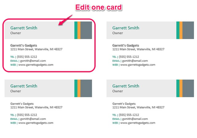 How to make business cards in microsoft word techwalla multiple cards per page reheart Choice Image