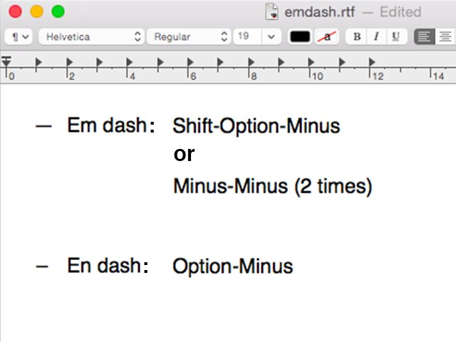 How To Make An Em Dash On A Mac Techwalla