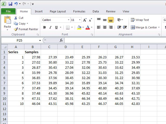 making a graph in excel