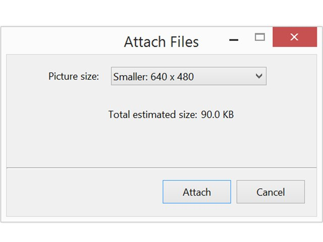 how to send photos by email reduce size