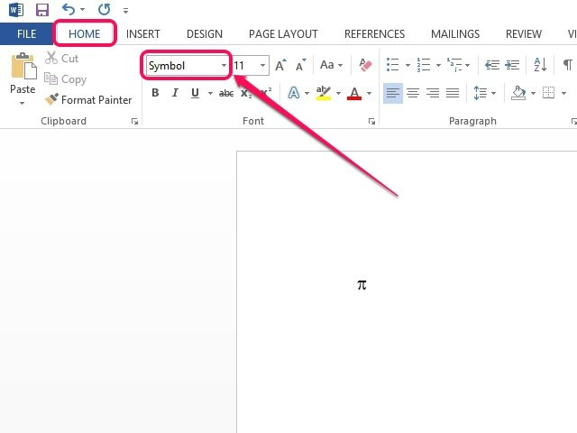 How To Insert The Pi Symbol In Word Techwalla