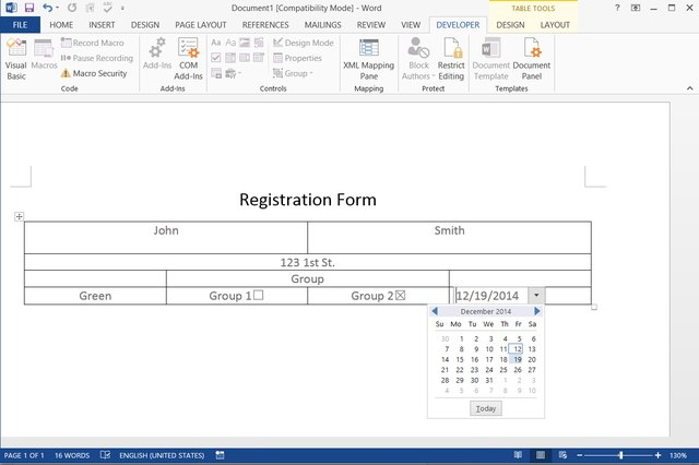 microsoft word form template