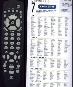 how to program a zenith universal remote control techwalla com rh techwalla com zenith universal remote control codes zenith remote control codes
