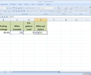 how to calculate gas mileage in excel techwalla com