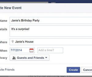 how to create an event on facebook on iphone
