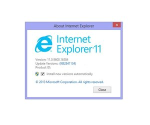 internet explorer versions