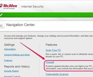how do i allow a website through mcafee firewall