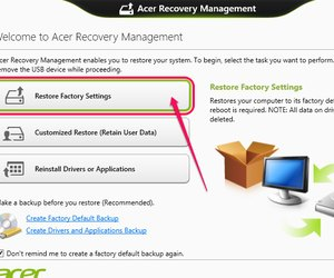 How do you reset acer laptop to factory settings