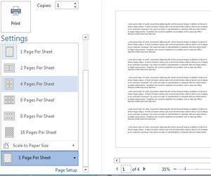 how to print two pages on one paper in microsoft word techwalla com