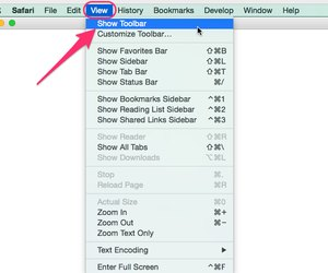 how to get toolbar back