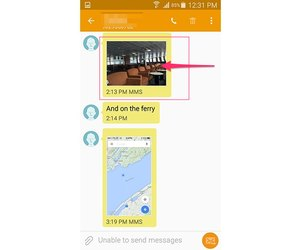 How to Download a Picture in a Text Message on an Android