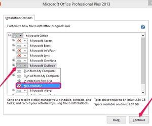 windows configures microsoft office professional plus 2013