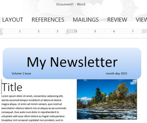How To Make A Newsletter Template In Word Techwallacom - How to create a newsletter template