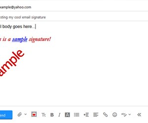how to change the signature in email on yahoo