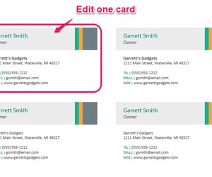 make business card in word