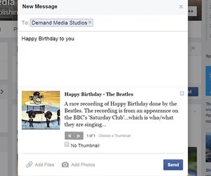 How to send a birthday greeting on facebook techwalla send a facebook message to keep your greeting private m4hsunfo