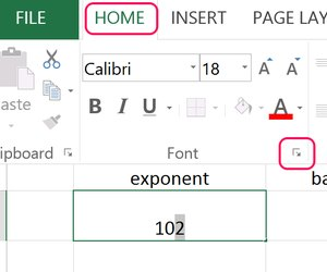 how to add exponents in excel