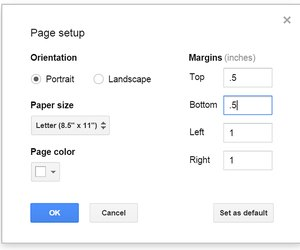 how to set margins word