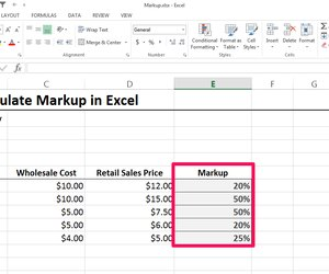 how to calculate markup in excel techwalla com