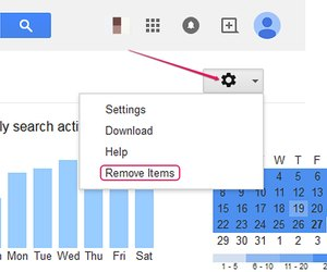 how to delete items from google search