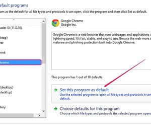 change default programs in google chrome
