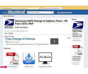 usps change of address pdf  How to Print a Change of Address Form From the US Post Office ...