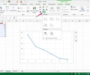how to change x-axis in surface chart excel