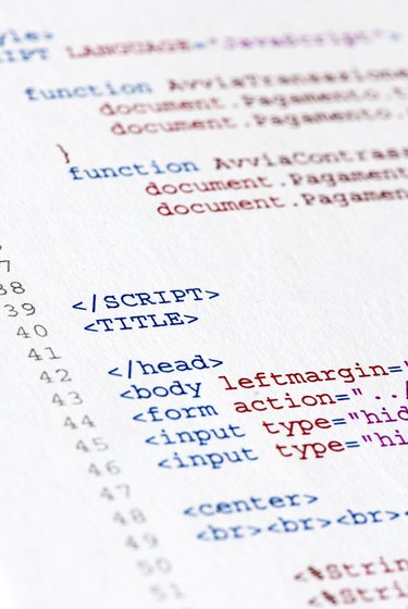 HTML coding lines