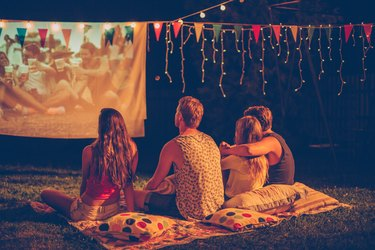 Movie night with friends