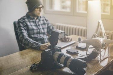 Photo editor at work