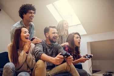 Playing favorite video game