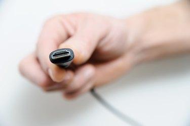 The cable plug hdmi.