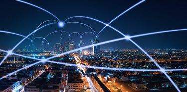 The network of city in Dubai,UAE