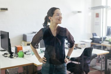 Startup Business Office Worker Smiling