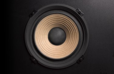BASS LOUDSPEAKER WITH COPY SPACE