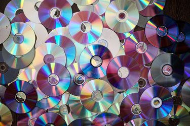 DVD and CD background