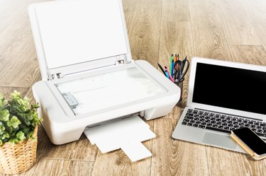 Laptop and printer