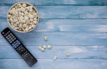 Popcorn with TV remote controler