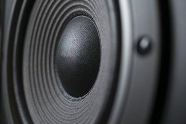 Full Frame Shot Of Speaker