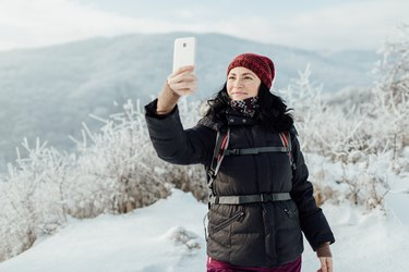 Selfie in a snowy country.