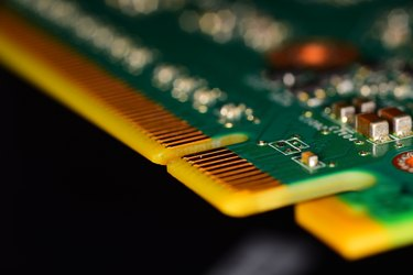 Gold plated connectors on a pci-e board