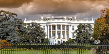 Panoramic view of the White House in Washington DC