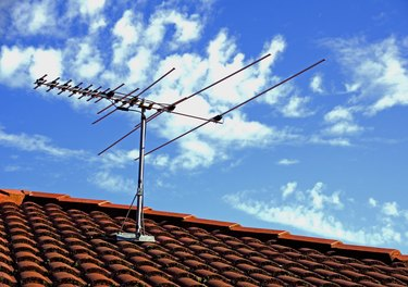 TV Antenna on a Rooftop