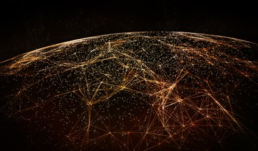 Global International Connectivity Background