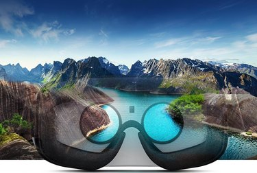 The view through VR headset