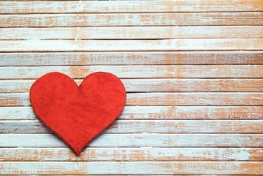A heart decoration on a wall